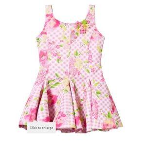 Kate Mack Toddler Girl Floral Spring Dress, 2t